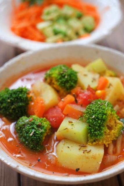 サラダの代わりに野菜たっぷりのスープはどうなのか